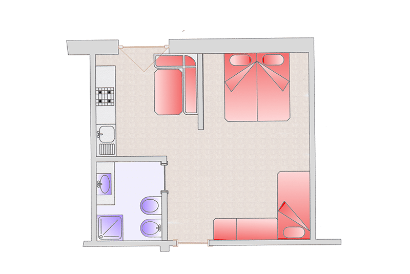 Room map apartment Anna
