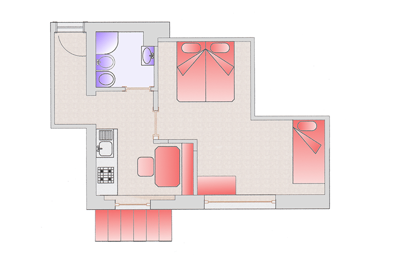 Room map apartment Lena