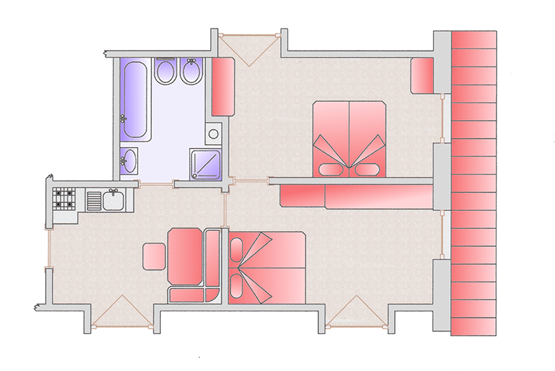 Room map apartment Silvia